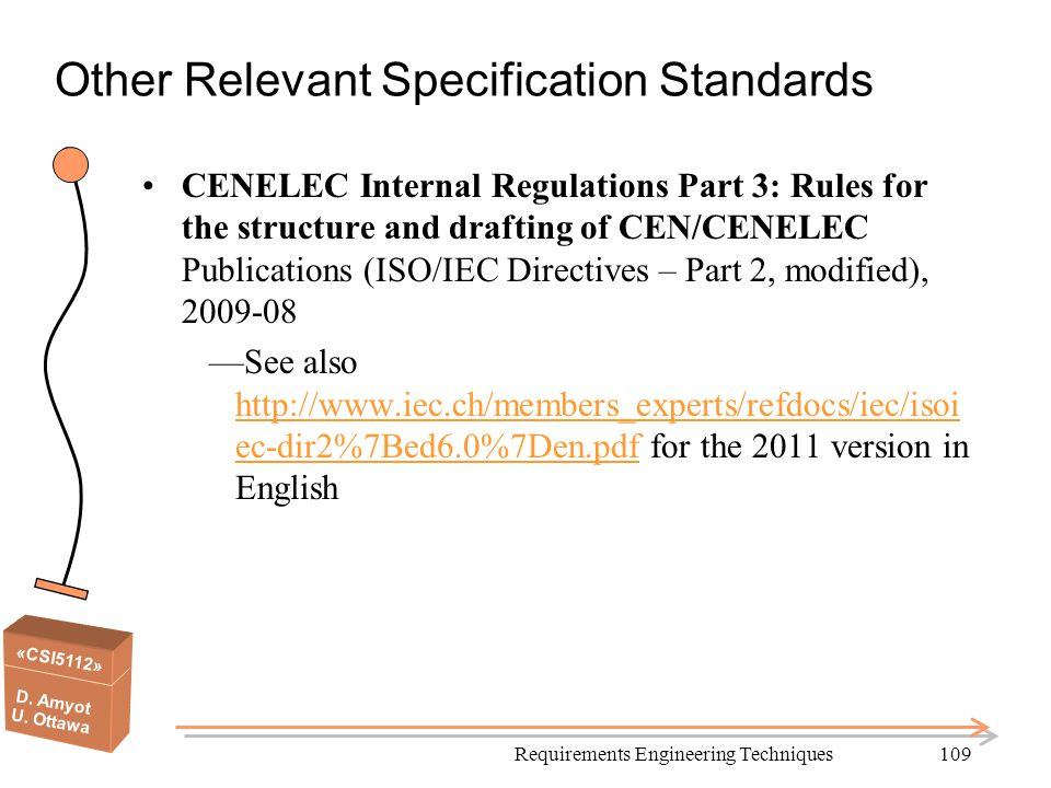 Other Relevant Specification Standards