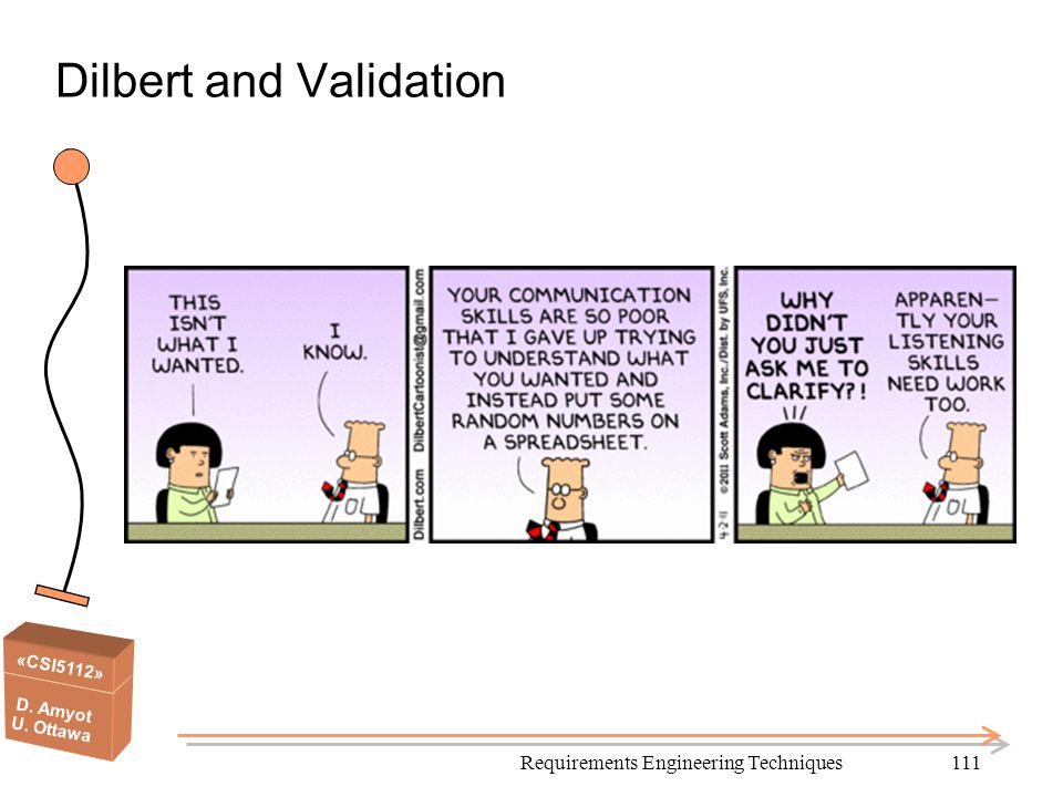 Dilbert and Validation