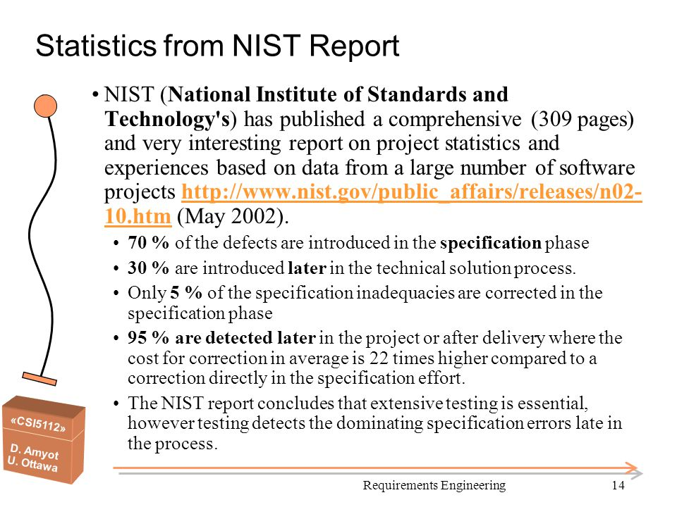 Statistics from NIST Report