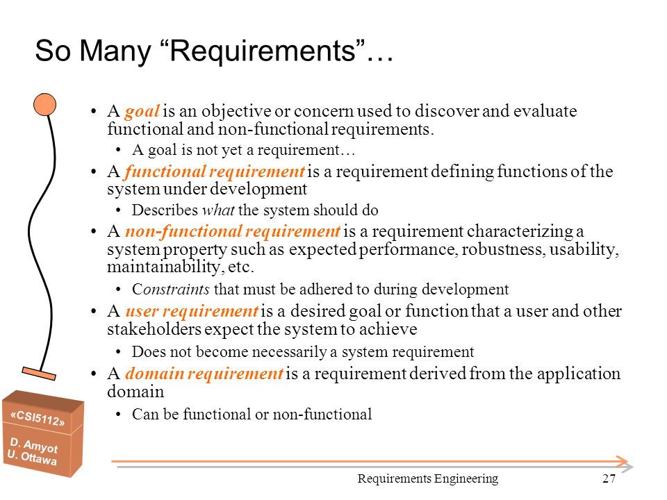 So Many Requirements …