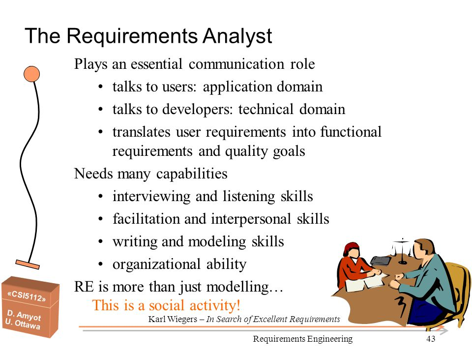 The Requirements Analyst