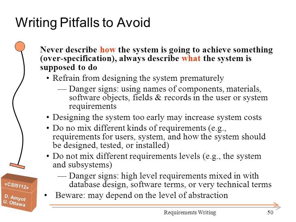 Writing Pitfalls to Avoid