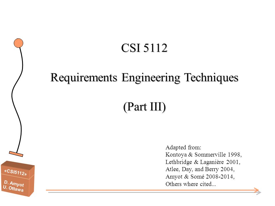 CSI 5112 Requirements Engineering Techniques