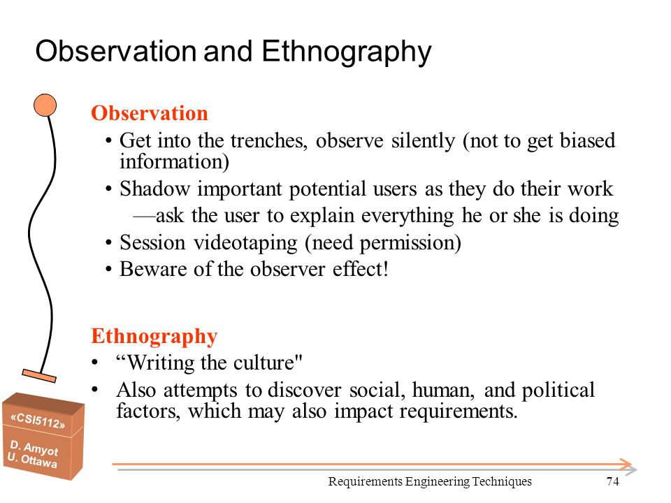 Observation and Ethnography