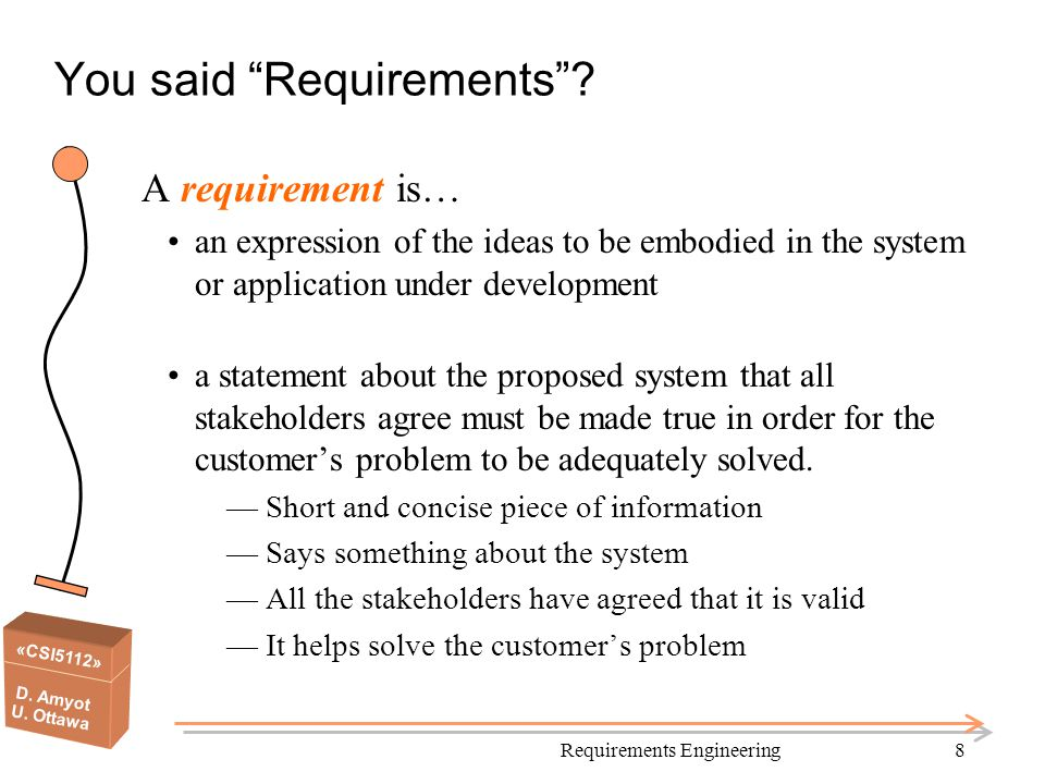 You said Requirements