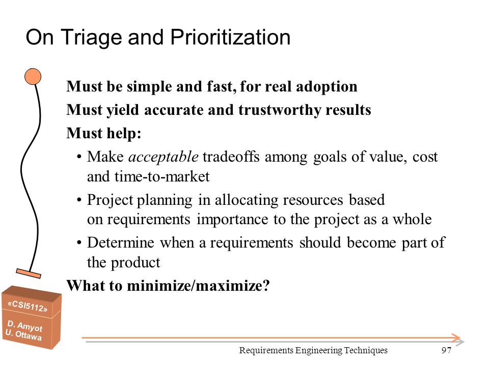 On Triage and Prioritization