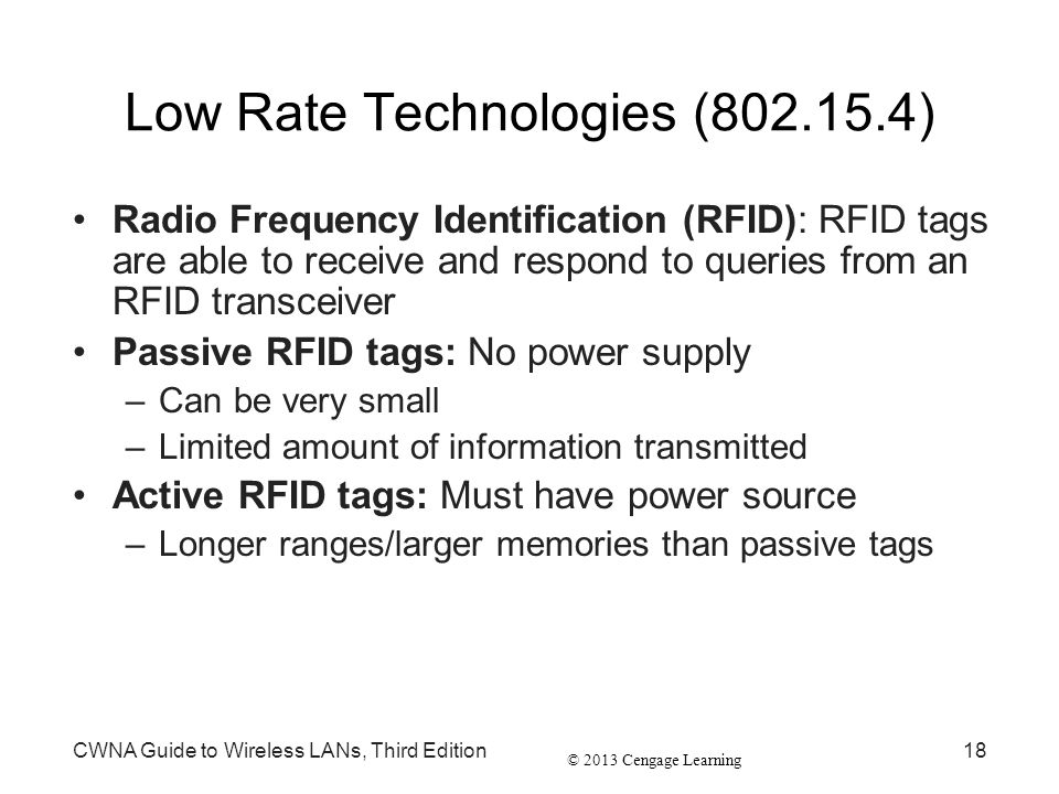 Low Rate Technologies (802.15.4)