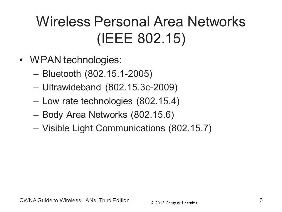 Wireless Personal Area Networks (IEEE 802.15)