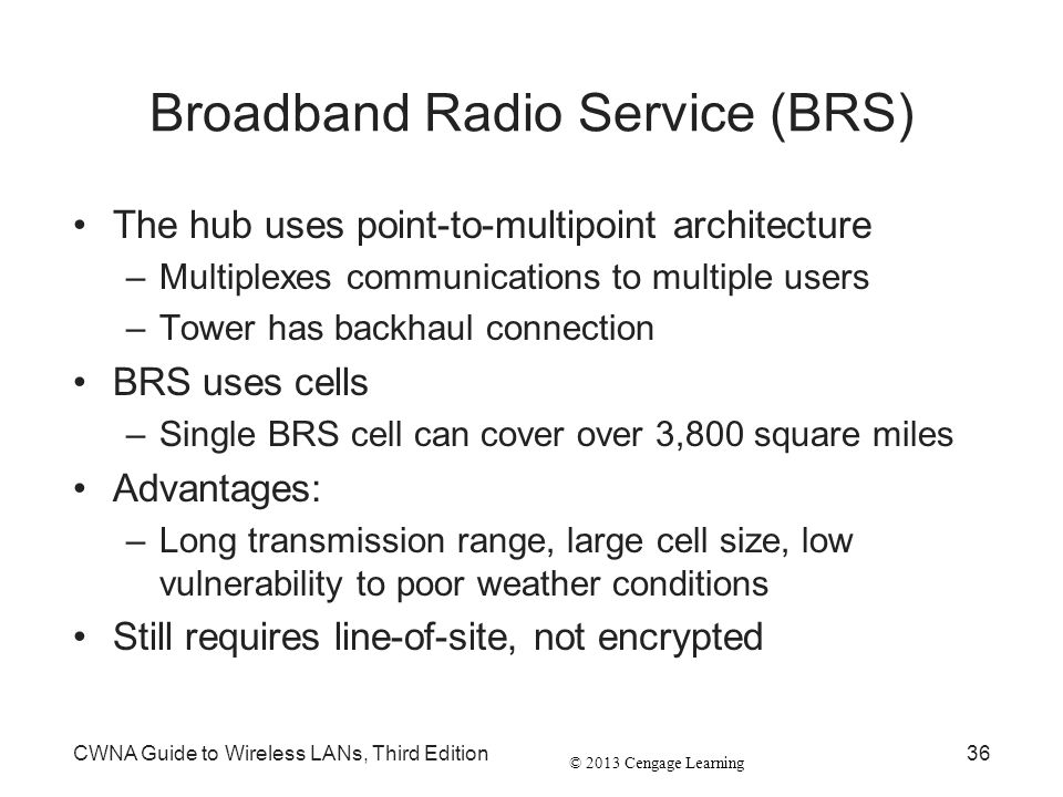 Broadband Radio Service (BRS)