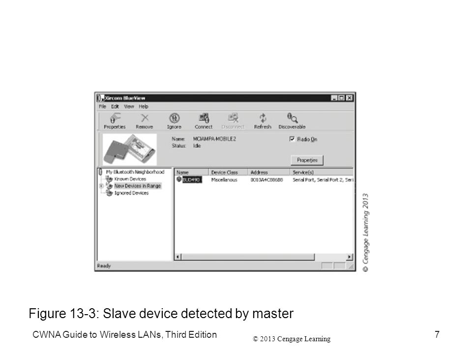 Figure 13-3: Slave device detected by master