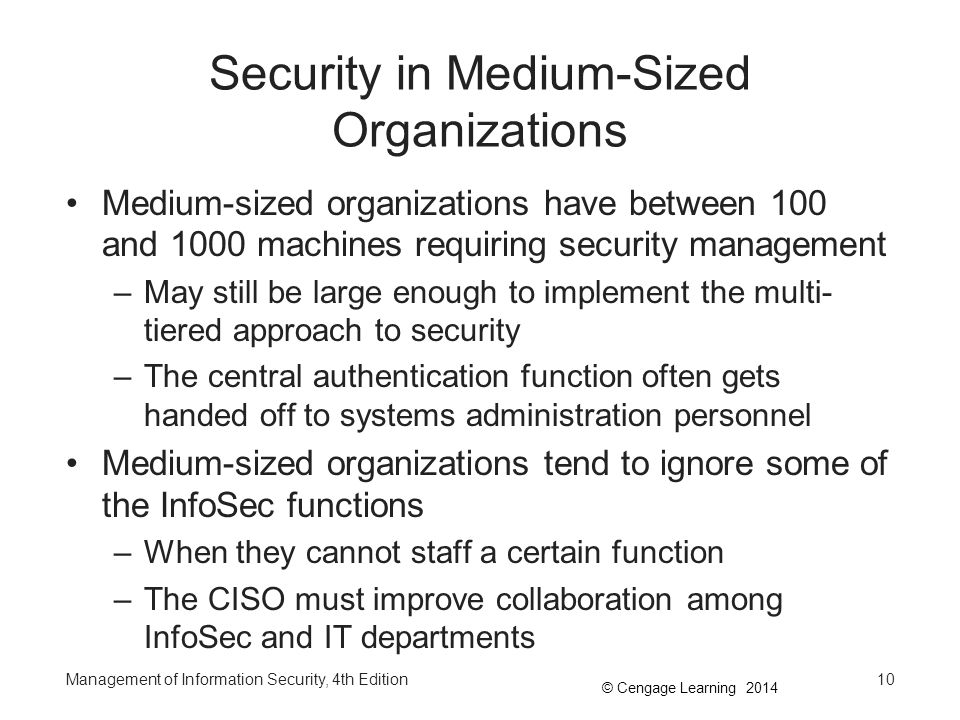 Security in Medium-Sized Organizations