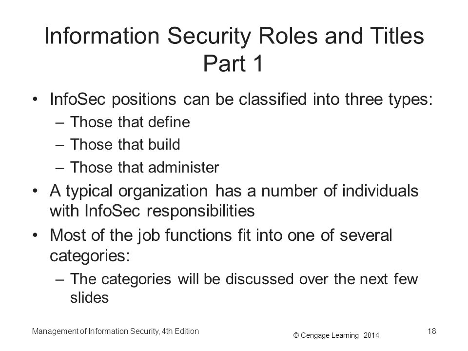 Information Security Roles and Titles Part 1