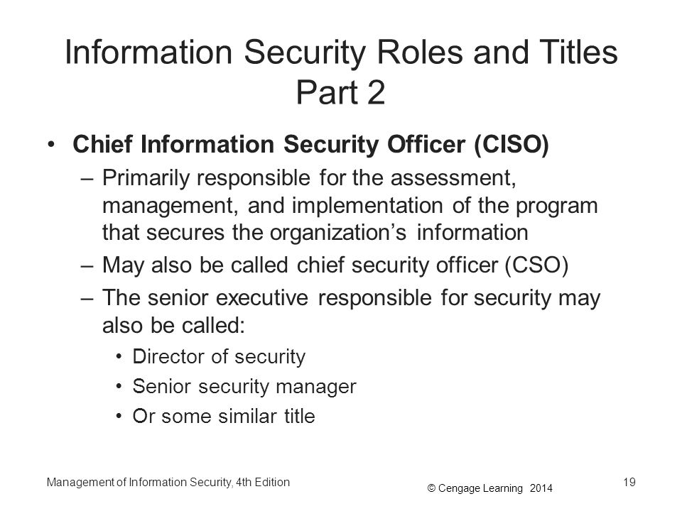 Information Security Roles and Titles Part 2