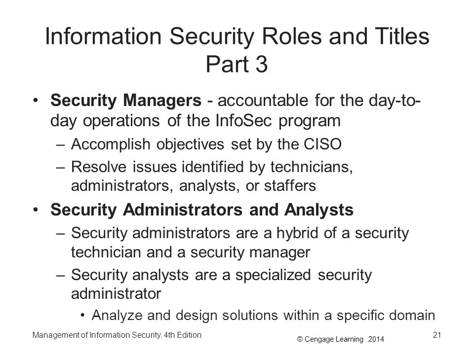 Information Security Roles and Titles Part 3