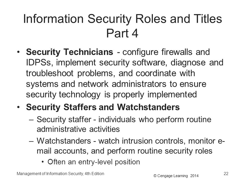 Information Security Roles and Titles Part 4