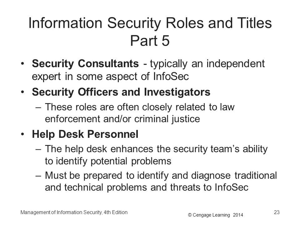Information Security Roles and Titles Part 5