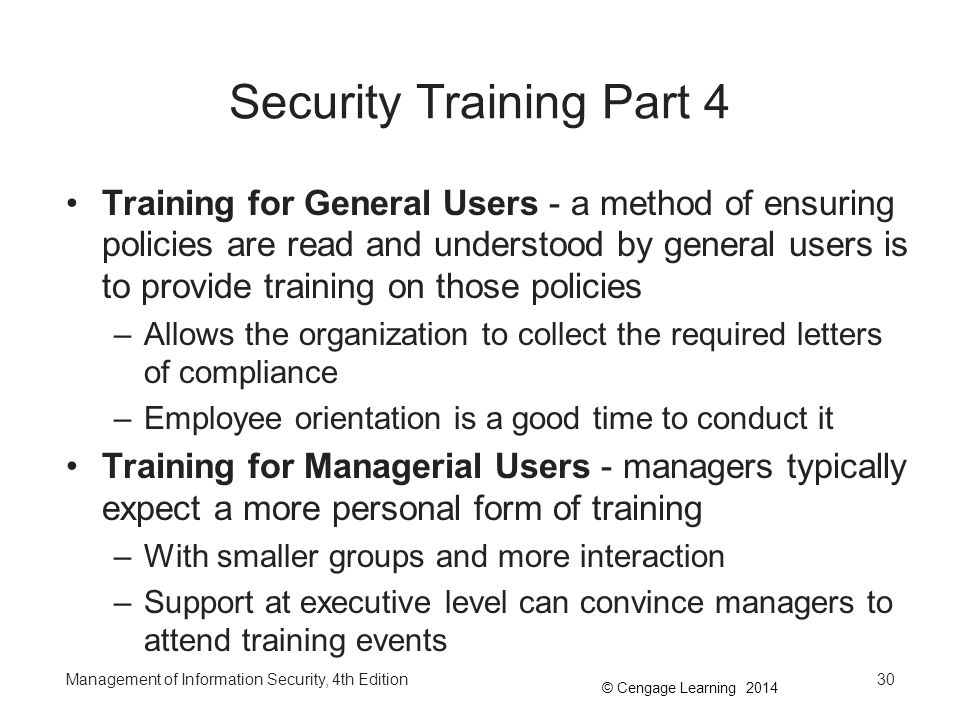 Security Training Part 4