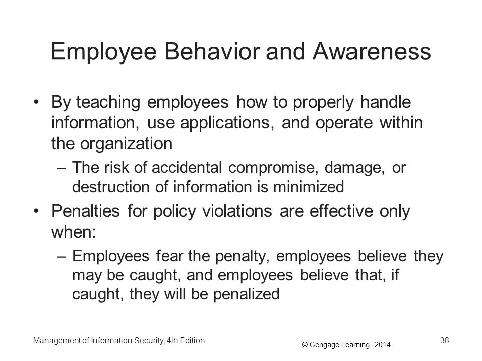 Employee Behavior and Awareness