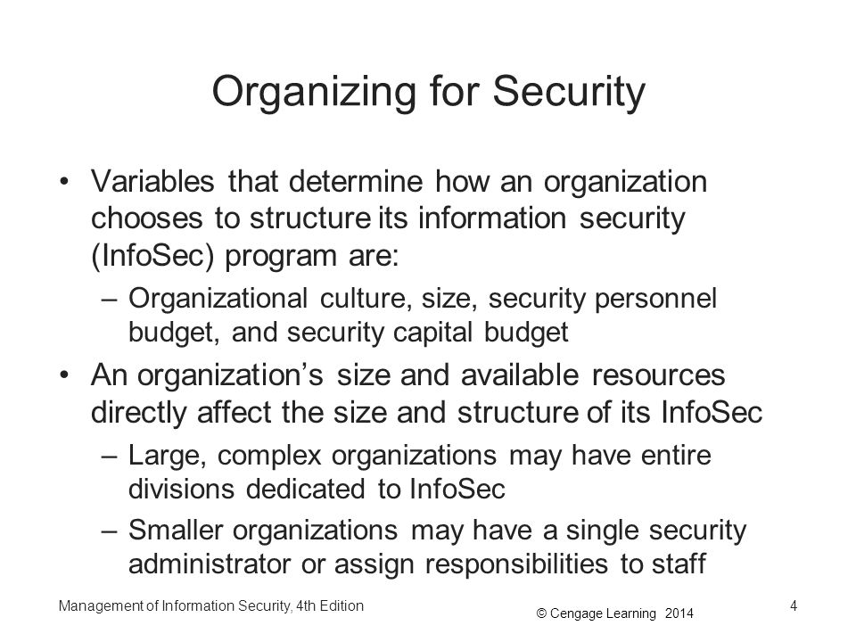 Organizing for Security