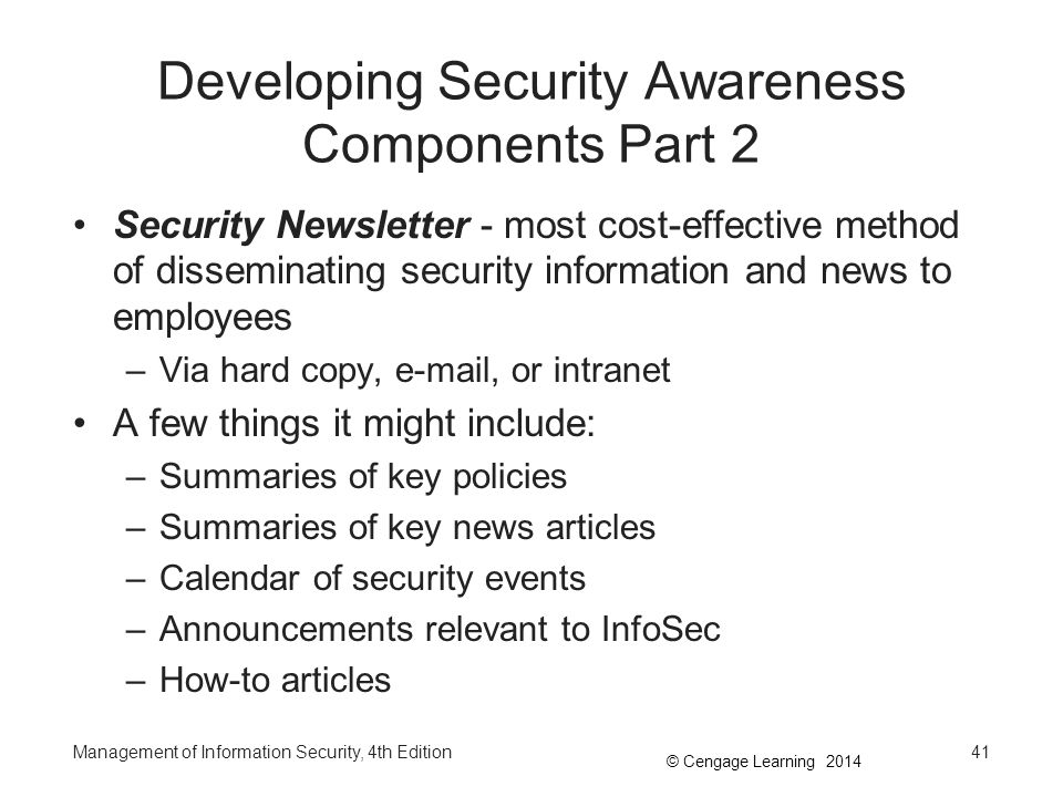Developing Security Awareness Components Part 2