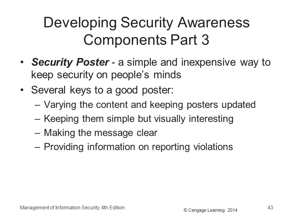 Developing Security Awareness Components Part 3