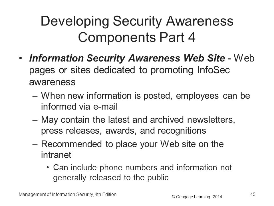Developing Security Awareness Components Part 4