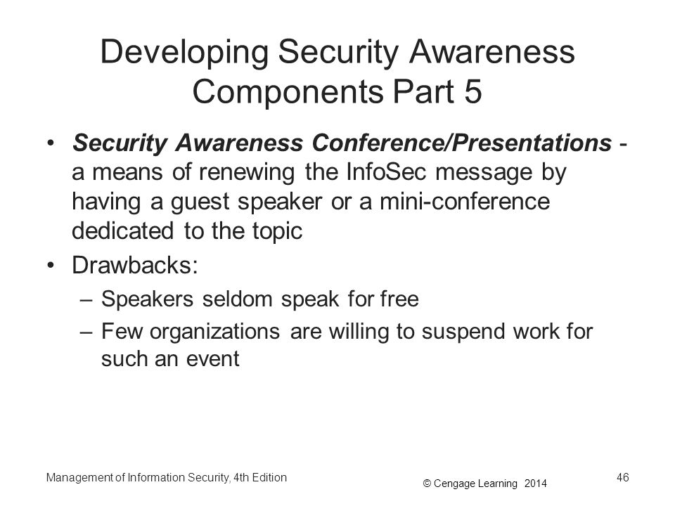Developing Security Awareness Components Part 5