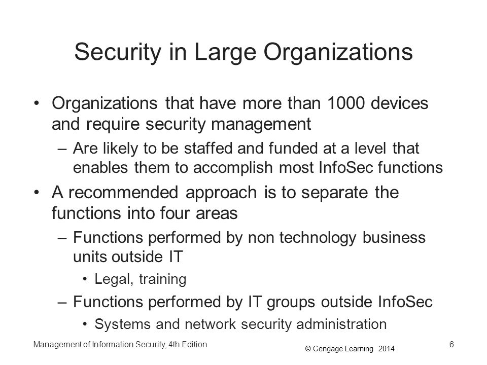 Security in Large Organizations