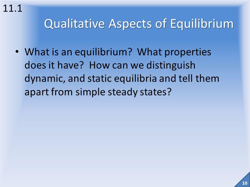 Qualitative Aspects of Equilibrium