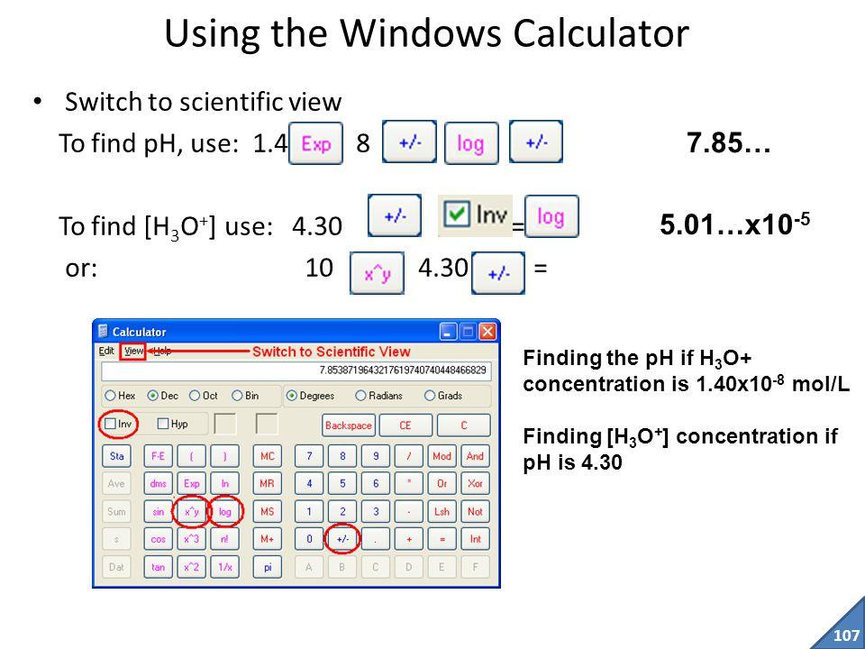 Using the Windows Calculator