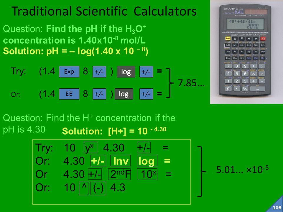 Traditional Scientific Calculators