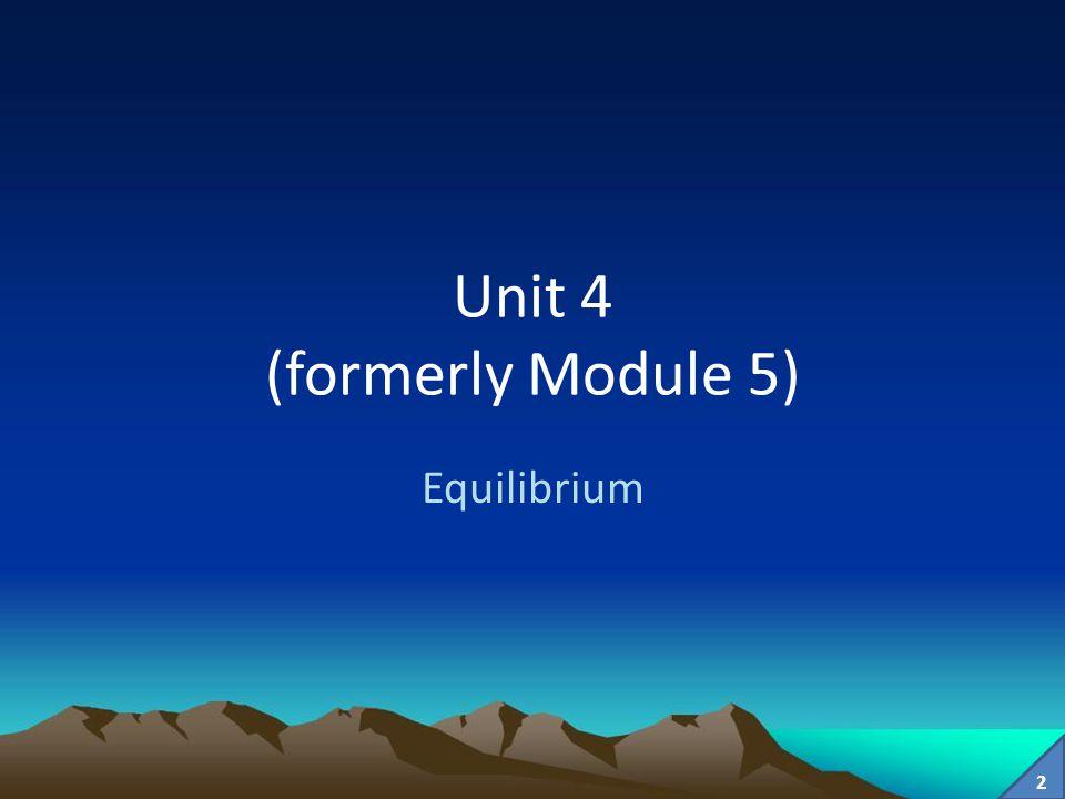Unit 4 (formerly Module 5)