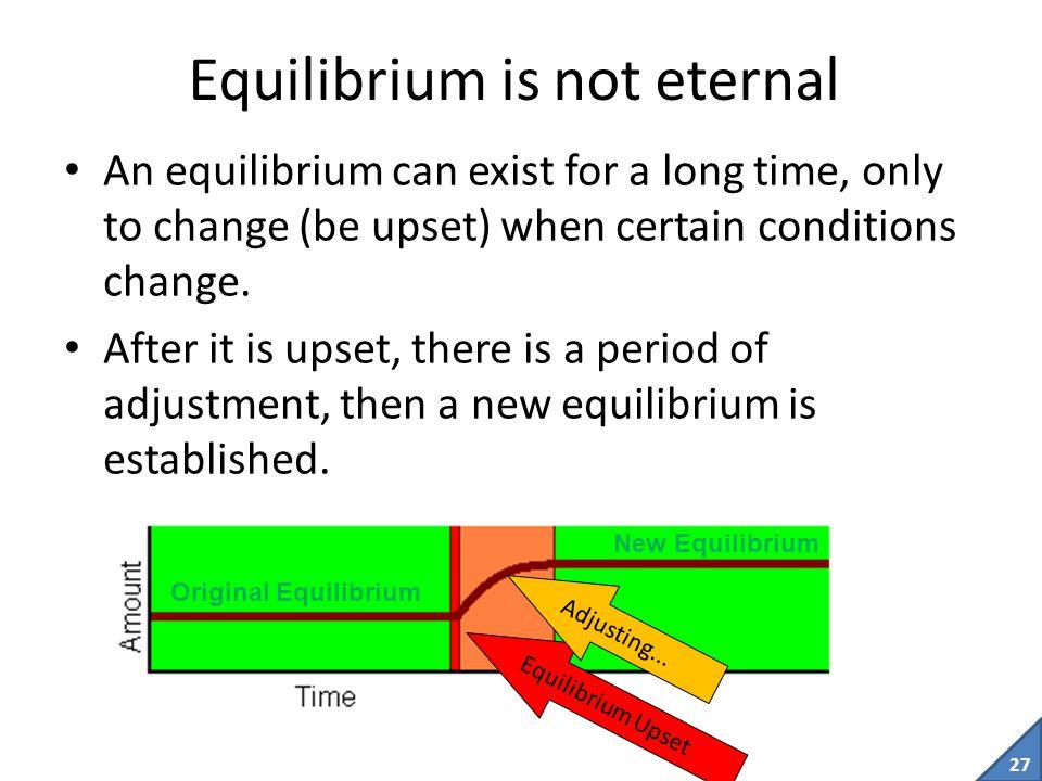 Equilibrium is not eternal