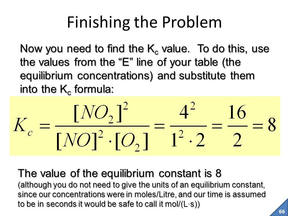 Finishing the Problem