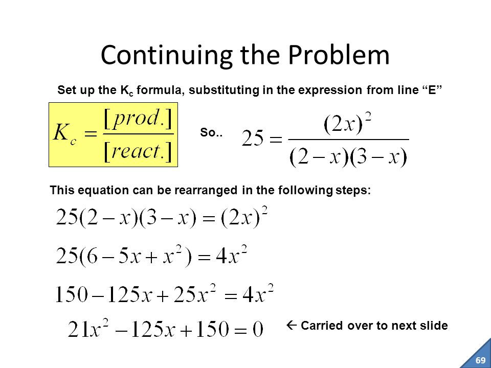 Continuing the Problem