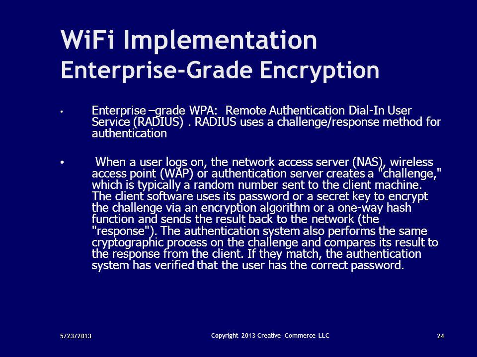 WiFi Implementation Enterprise-Grade Encryption