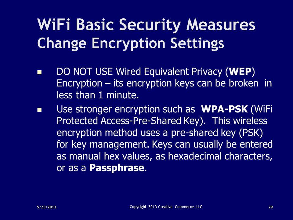 WiFi Basic Security Measures Change Encryption Settings