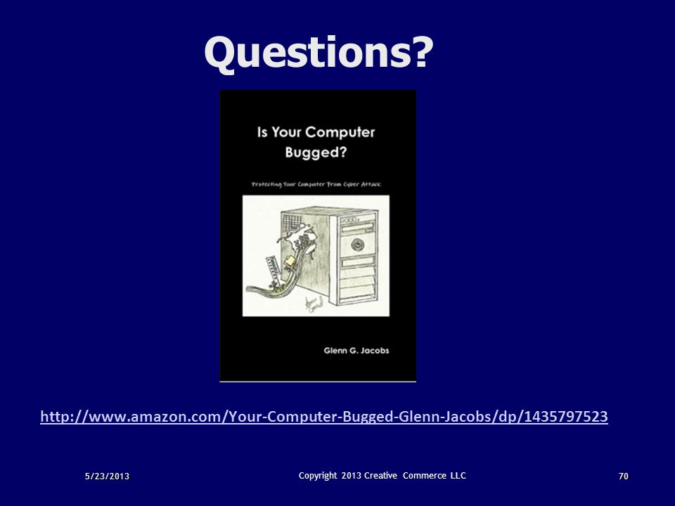 Copyright 2013 Creative Commerce LLC
