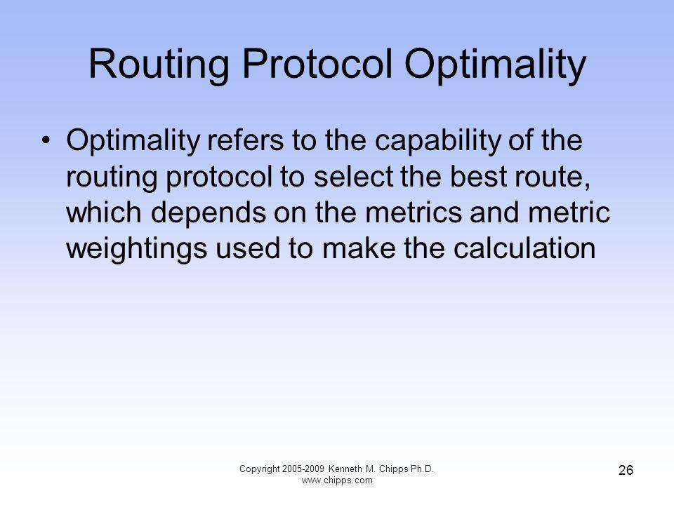 Routing Protocol Optimality