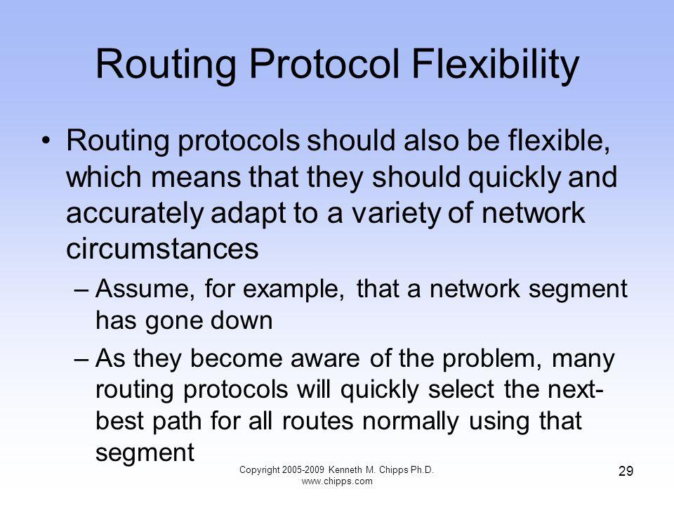 Routing Protocol Flexibility