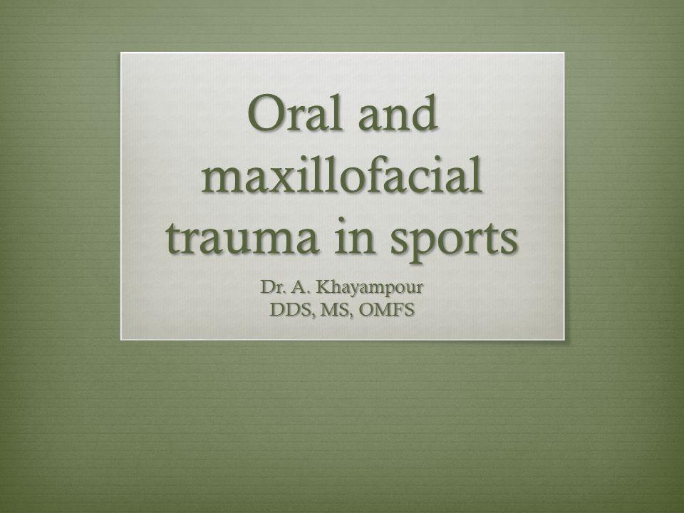 Oral and maxillofacial trauma in sports