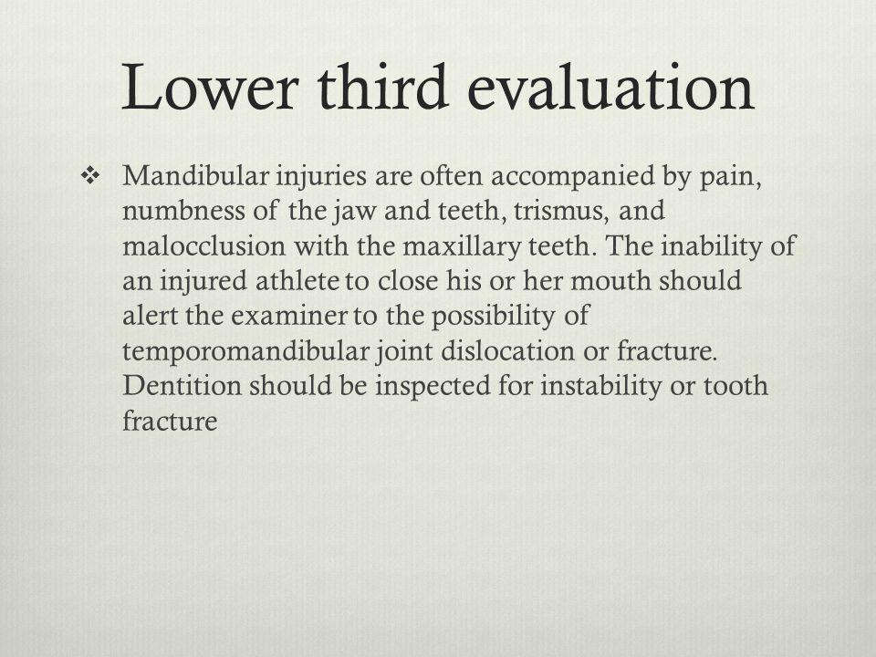 Lower third evaluation