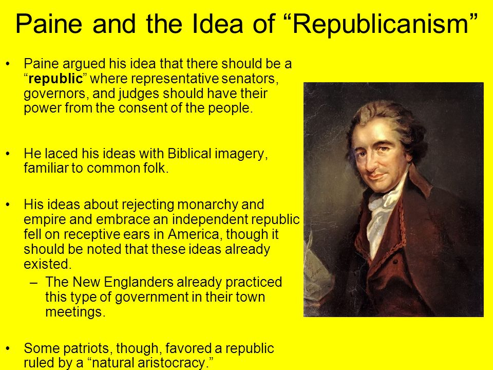 Paine and the Idea of Republicanism
