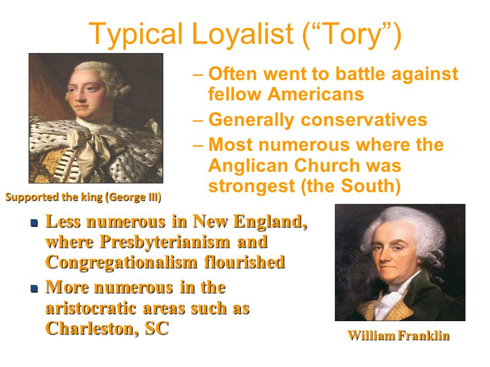 Typical Loyalist ( Tory )