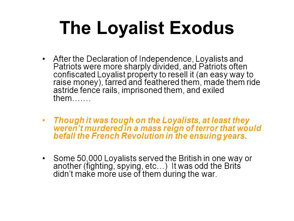 The Loyalist Exodus