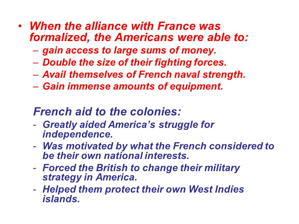 French aid to the colonies: