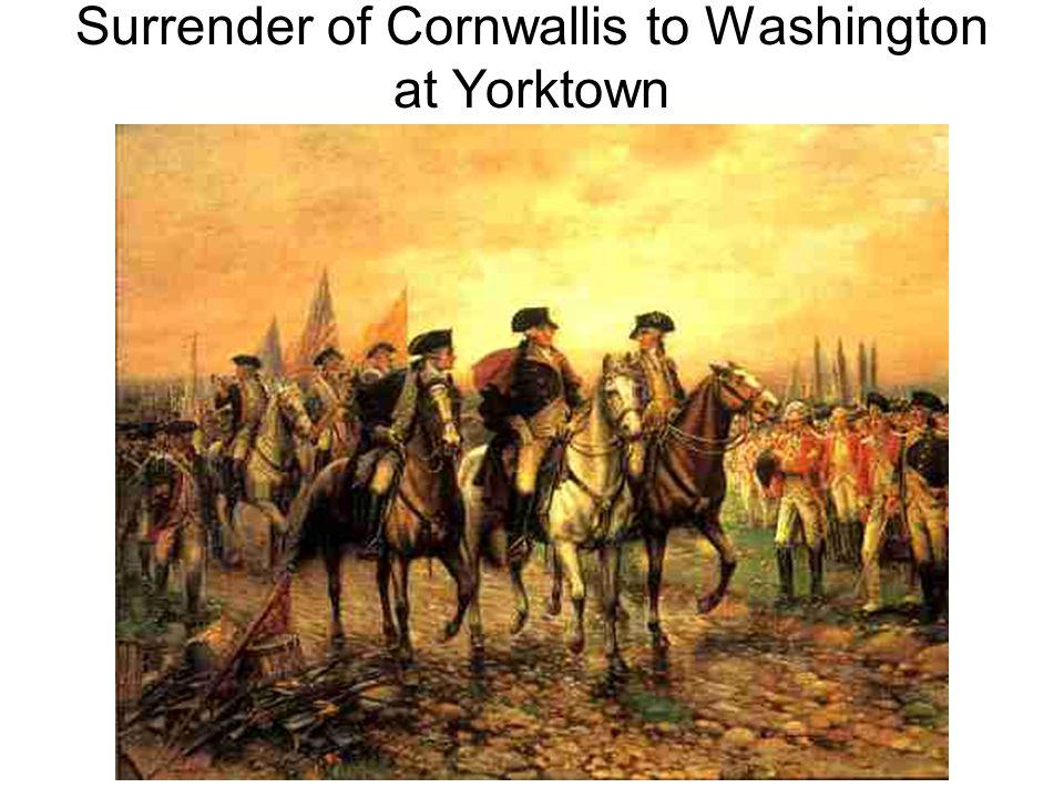 Surrender of Cornwallis to Washington at Yorktown