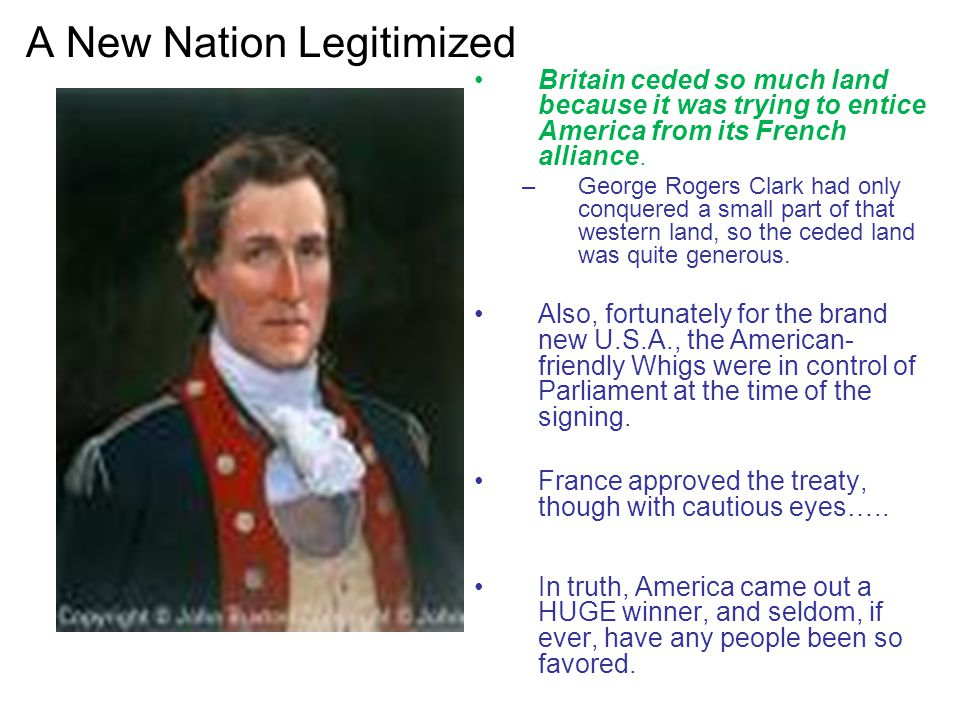 A New Nation Legitimized
