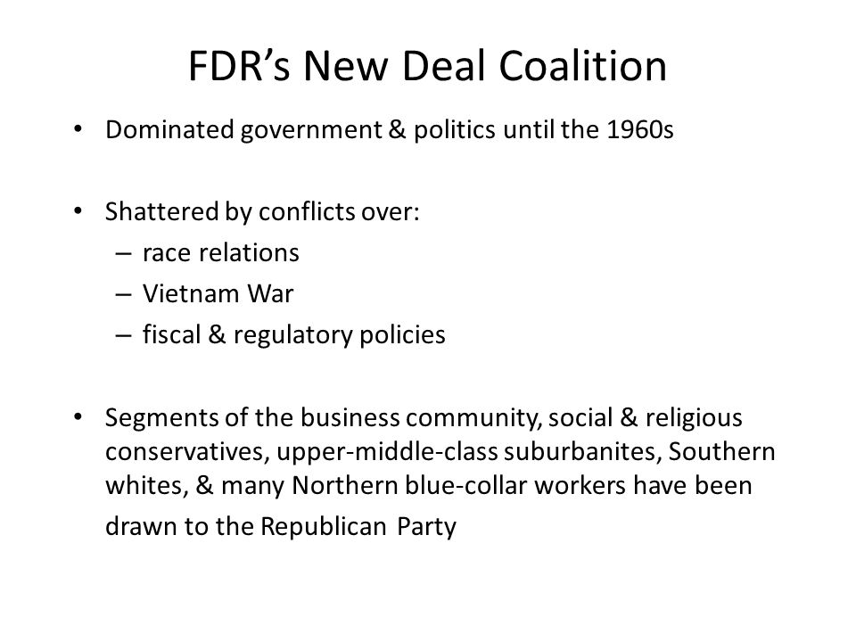 FDR's New Deal Coalition