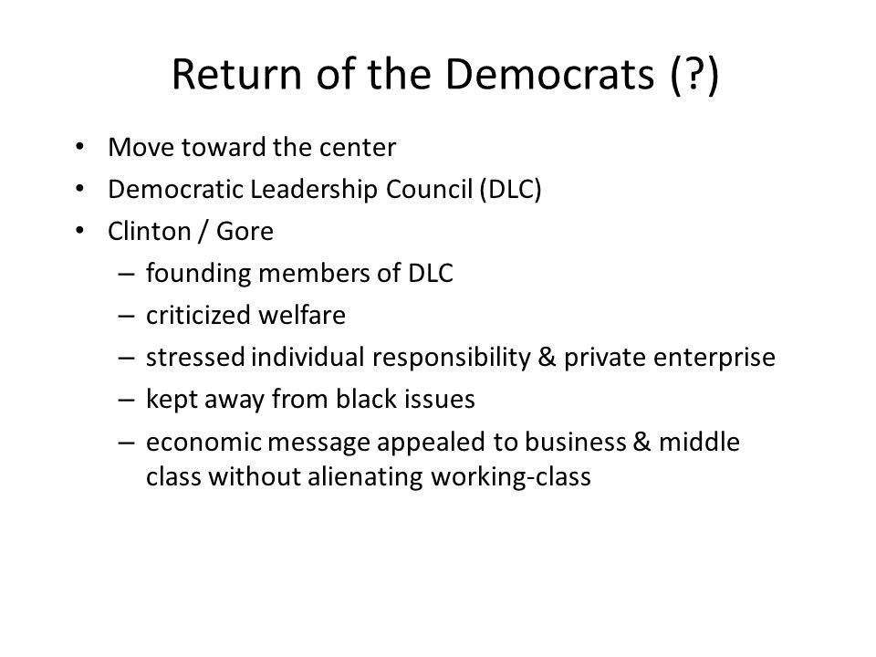 Return of the Democrats ( )